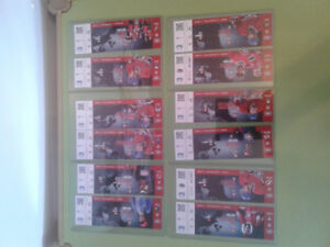 34 x 2014/2015 unused Montreal Canadiens season tickets lot NHL