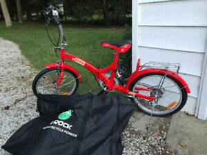 "K Rock 20"" folding bycicle with carry bag. New!!!"