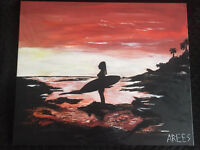 Morning surf - Anna Rees Art