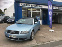 2005 Audi A4 Cabriolet 1.8T S Line 113,000 MILES FULL HISTORY, LAST OWNER 7 YEAR