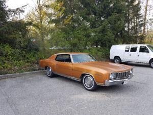 Monte Carlo 1972 All Original 10500.00 OBO