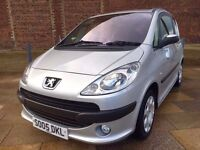 2005 PEUGEOT 1007 DIESEL ++ SLIDING ELECTRIC DOORS ++ CD ++ LOW TAX ++ JUNE MOT.