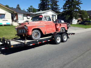 PROJECT 2nd GEN `55 CHEVY SHORT BOX STEP SIDE !!! $2950 OR TRADE