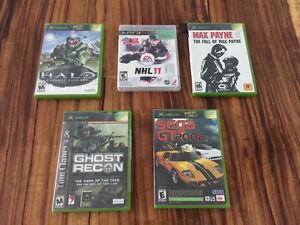 Jeux Xbox et PS3 (Halo, NHL 11, Max Payne 2, Ghost recon, Sega)