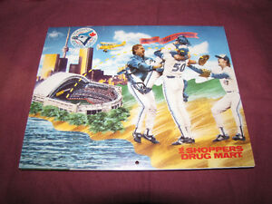 Blue Jays/Shopper's Drug Mart calendars: 90, 91, 92, 94 & 97