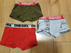 Boys DIESEL boxer briefs sz XS (3/4) - 3 pairs EUC -red like new