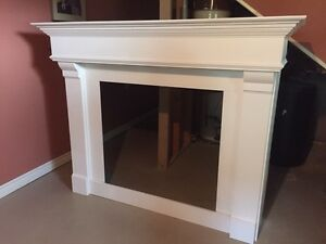Beautiful white fireplace mantle for sale