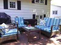 PATIO CUSHION RECOVERING....Fabric is now 50% off !!!!!!