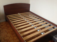 Double size bed frame IKEA brown