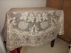 dining items( two table cloths for sale -- both exc clean cond