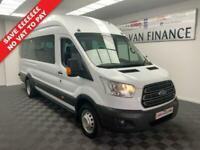 2016 TRANSIT 2.2 460 TREND 17 SEATER MINIBUS 155BHP AIR CON FRONT & REAR