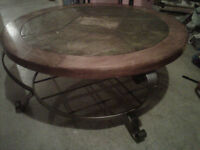 "Gorgeous "" Like New"" slate top with Cast Iron legs"