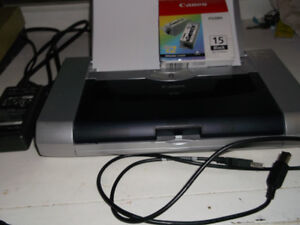CANON IP-90 PORTABLE PRINTER WITH EXTRA INK CARTRIDGES