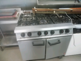 Commercial Felcon 6 Burner Gas Cooker