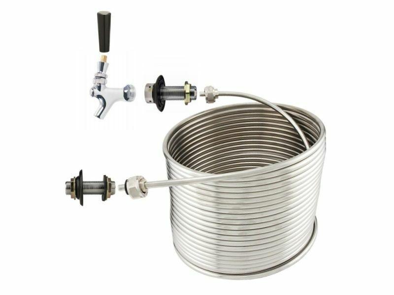"""NY Brew Supply Jockey Box Single Faucet Coil Kit - 5/16"""" x 50"""