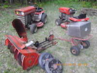 massey ferguson 12 and 7hp riding mowers with extras