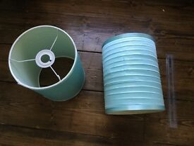 Ceiling Lamp Shades x2 - Aqua Blue - Pair