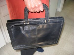 Briefcase, Navy Leather, Made in Italy for Holt Renfrew