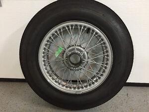 5 Pneus Dunlop-road 5 90H15   avec jantes 48 rayons acier peint