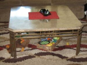 Metal  &  Glass Coffee Table &  end-tables