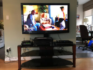TV with stand and receiver