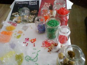 Perles plastiques/cristal + 2 livres Arbres chinois