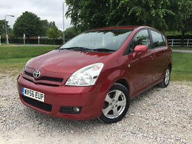 2006 Toyota Corolla Verso 1.8 VVT-i T3 Petrol Manual 7 Seater in Red
