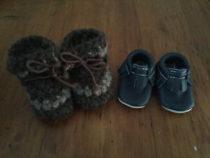 2 pairs of baby boots