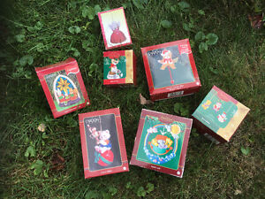 Carlton collectable Christmas tree ornaments
