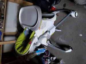 Baby stroller and car seats for new born twins and high chair.