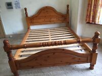 Solid Pine King Size Bed(Frame only)