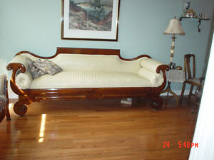 ANTIQUE DUNCAN FYFE COUCH $450 also SETTEE for $250