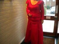 Handmade Victorian Bustle/Saloon Girl costume in Red Taffeta