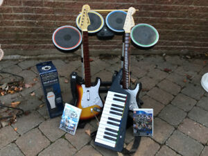 Rock Band Wii games and Instruments