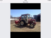 Tractor with snow blower (diesel)