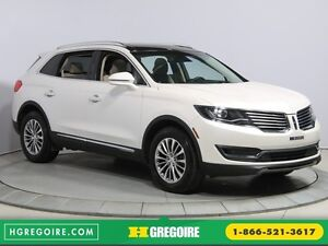 2016 Lincoln MKX AWD CUIR NAV TOIT PANO MAGS