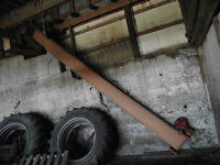 16' Feed conveyor complete with 1 hp Lesson motor