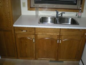Oak Cabinits and counter top