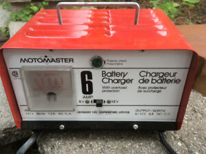 New in Box - Old School MotoMaster Battery Charger