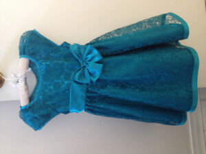 Girls Size 4 Teal Special Occasion Dress