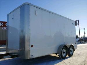 7x14 Enclosed Cargo Trailer with RAMP DOOR