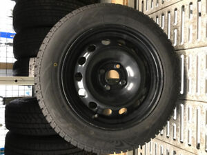 185-65-15 WINTER TIRES ON STEEL RIMS (4x100)