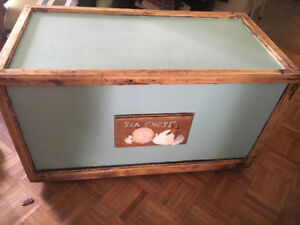 Sea chest! Solid wood trunk.