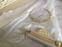 WEDDING TIARA & pearls