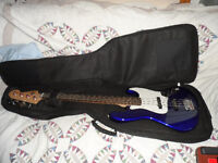 Squier Affinity J Bass Guitar w/ Voyageur Case & Proline Stand
