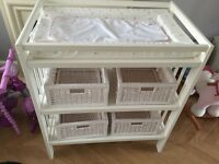 Baby changing table and John Lewis changing mat