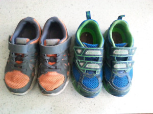 2 Pairs of Boys Size 11 Nike Geox Shoes