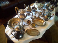 Large collection of Sheffield silver - open to a bid on the lot.