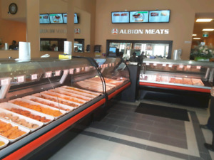 MEAT, DELI, CHEESE, FISH DISPLAY CASE