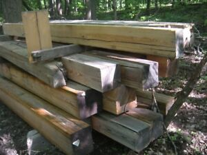 30+ pieces 8x8 and 10x10 rough sawn pine great cribbing, shoring